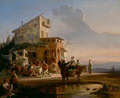Robert Wilhelm Ekman (1808-1873), Osteria con cucina, Italaialainen majatalo 1846 Academic Art, Romanticism, Triptych, Art Studies, Painting, Artists, Nice, Denmark, Norway
