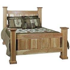 Albany Post Bed handmade in Cherry, Oak, Pine & more : Furniture Store Minnesota : P.M. Bedroom Gallery   Borofka's Furniture