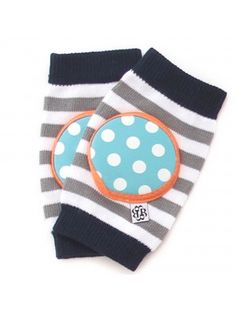 Happy Knees Cookie Monster Stripe - crawler kneepads $14 www.bellatunno.com