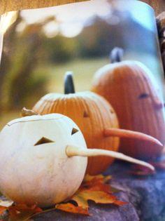Pumpkins with carrot noses - from Martha Stewart Halloween