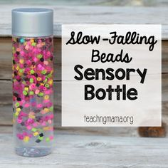 Slow falling sensory bottle sensory jar, beads