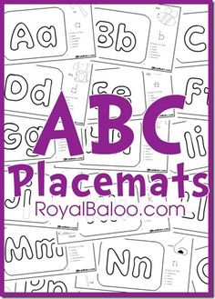Get in some extra learning at the dinner table with these fun free ABC placements from Royal Baloo. Each free alphabet placemat has 5 foods with a s