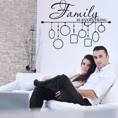 """Style and Apply Family Picture Frame Wall Decal Size: 23"""" H x 31"""" W, Color: Violet"""