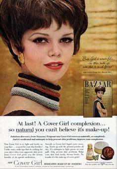 Cover Girl Medicated Make-up Vintage Makeup Ads, 60s Makeup, Love Makeup, Vintage Beauty, Vintage Ads, Vintage Style, Beauty Ad, Beauty Makeup, Beauty Products