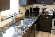 Black and Gold Marinace Granite | Granite Counter tops | Jackson Stoneworks | Flickr