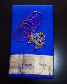 Blue Kancheepuram Sarees UK. London Bridal sarees for cheap. Wedding sarees in UK. https://www.facebook.com/inspiredsarees https://www.instagram.com/inspiredsarees/