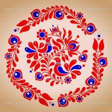 Embroidery Hungarian Hungarian folk vector motives by tupia, via ShutterStock - Hungarian Embroidery, Folk Embroidery, Learn Embroidery, Chain Stitch Embroidery, Embroidery Stitches, Embroidery Patterns, Folk Art Flowers, Flower Art, Mandala