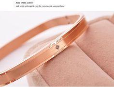 Eternal Love Square Diamond Bracelet 14K Rose Gold Bangle | Buy Wholesale On Line Direct from China