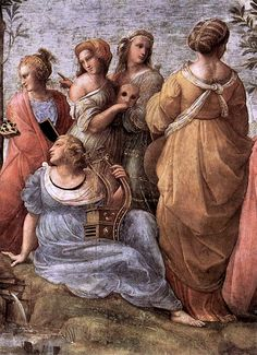 The Parnassus - detail by Raphael Sanzio, 1509-1510