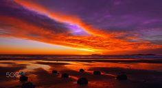 Sunset at Playas de Tijuana, Baja California, Mexico