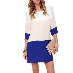 Eleery Fashion Damen Chiiffonkleid Sommerkleid Casual Mini Kleid…