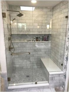 25 Beautiful Farmhouse Master Bathroom Decor Ideas And Remodel. If you are looking for Farmhouse Master Bathroom Decor Ideas And Remodel, You come to the right place. Below are the Farmhouse Master B. Master Bathroom Shower, Modern Master Bathroom, Bathroom Design Small, Bathroom Renos, Bathroom Interior Design, Remodel Bathroom, Master Bathrooms, Minimal Bathroom, Bathroom Makeovers