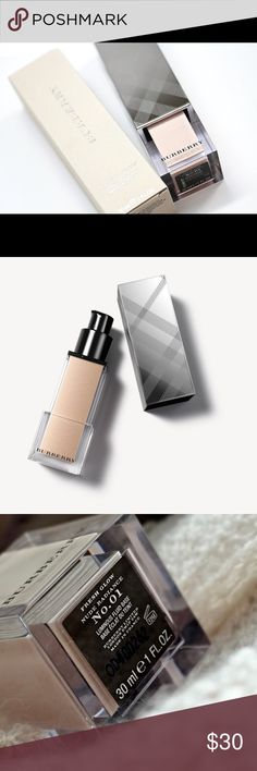 Burberry Beauty Fresh Glow Luminous Fluid Base Burberry Beauty Fresh Glow Luminous Fluid Base, color: Nude Radiance. Can be used to make any foundation luminous or used on top of makeup as a liquid highlight. Burberry Makeup Luminizer