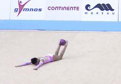 Zhala Piriyeva (AZE) ball - Lisbon WC 2014 - Junior Ball Final