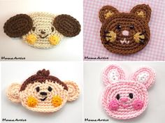 Listing is for 1 crochet embellishments, mix of colours. Each motif is made in a quality cotton yarn, which is soft and machine washable. Would look fantastic sewn on a bag, jacket, jeans, hut,...