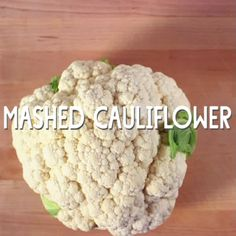 Mashed Cauliflower // Mashed cauliflower is a great paleo substitute for mashed potatoes but with fewer carbs. Top with chopped herbs and grated cheese.