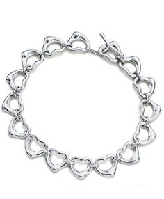 Tiffany And Co Continuous Heart Bracelet #jewelry