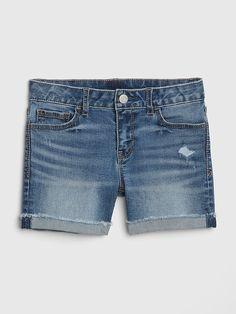 Denim shorts - always a fave Toddler Girl Shorts, Baby Girl Pants, Gap, Cute Girl Outfits, Skirt Pants, Summer Shorts, Outfit Sets, 6 Years, Denim Shorts