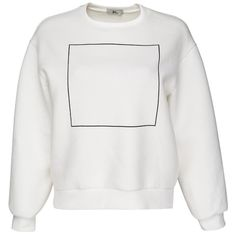 Sweatshirt with square print ($37) ❤ liked on Polyvore featuring tops, hoodies, sweatshirts, sweaters, sweatshirt, shirts, sweat shirts, sweatshirt shirts, shirts & tops and sweat tops