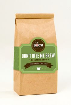 Don't Bite Me Coffee Packaging by Naomi Francois, via Behance
