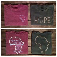 Comfort Colors Africa Short Sleeve T-Shirt by CottonThreadsShirtCO  berry/hope Africa Mission Trip, Mission Trips, Travel Shirts, T Shirt Image, Comfort Colors, Fundraisers, Honduras, Diabetic Recipes, Uganda