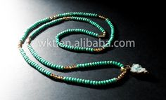 WT-N229 New! Faceted turquoise long necklace, fashion stone turquoise beads long necklace with lovely charm by WKTjewelry on Etsy