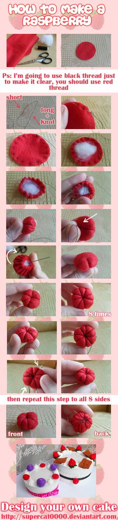Tutorial. How to make a raspberry by SuperCat0000.deviantart.com on @deviantART