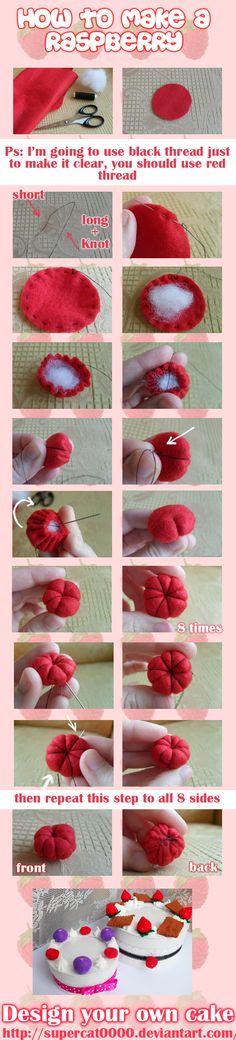 How to make a raspberry. http://aiwa-9.deviantart.com/art/How-to-make-a-raspberry-148547805