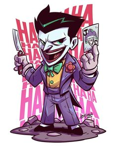 Chibi joker is so horribly cute. If you want more such awesome pins visit my board Chibi . Der Joker, Joker Art, Joker And Harley Quinn, Joker Batman, Joker Comic, Character Drawing, Comic Character, Cartoon Art, Cartoon Characters