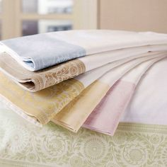 The Lindsay Collection from Deborah Sharpe Linens.
