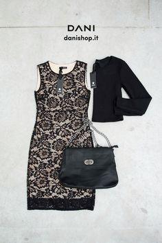 #DANI  Mademoiselle??   #danistore #danimood #abitopizzo #blackbags  Nei negozi DANI & danishop.it  http://www.danishop.it/natale/tubino-pizzo-nude.html