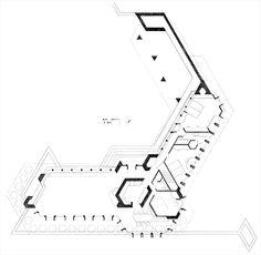 Risultati immagini per kentuck knob house PLAN Frank Lloyd Wright, Library Architecture, Concept Architecture, Organic Architecture, Arch Building, Building Plans, Usonian House, Home Design Floor Plans, Best House Plans