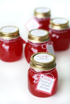 Make homemade jam/chutney/lemon curd :) DONE! Chia seed Jam almost perfected :) Homemade Xmas Gifts, Meat And Cheese Tray, Jam And Jelly, Food Jar, Gourmet Gifts, Meals In A Jar, Happy Foods, Canning Recipes, Mini Cakes