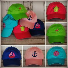 Embroidered Nautical Hats - Preppy & Personalized