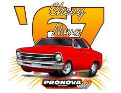Pro-Nova Design Nova T-shirts Red 1967 Nova #Hanes
