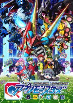 Anunciado reparto adicional y nuevos temas musicales del Anime Digimon Universe: Appli Monsters.