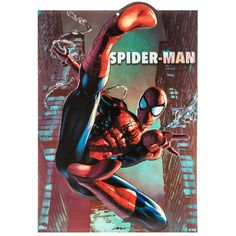 Spider-Man Die Cut Embossed Tin Sign⎜Open Road Brands