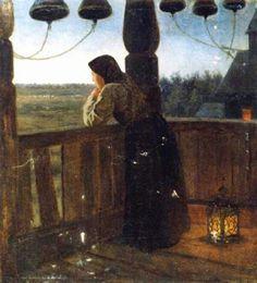 Клодт (фон Юргенсбург) Михаил Петрович (1835-1914) Девушка на колокольне. Конец. XIX века.