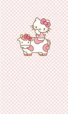 Image via We Heart It #kitty #pattern