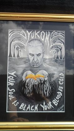 Original inspired art painting Till Lindemann Skills in Pills Yukon Rammstein framed with mount by GothicBoudoir on Etsy