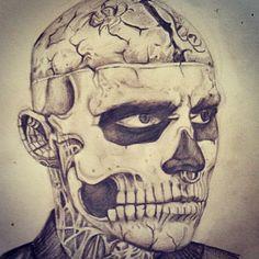 B.K.M Make-Up & Design - Halloween Illustration Zombie Boy
