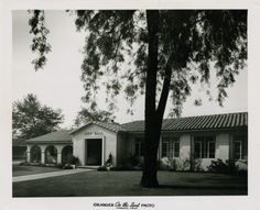 Claremont CIty Hall. Photograph taken two years after the building's dedication in 1949