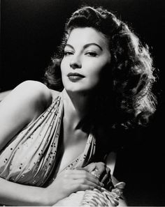 Ava Gardner in brilliant halter necked dress with sequins