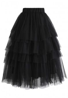 Love Me More Layered Tulle Skirt in Black - Retro, Indie and Unique Fashion Tulle Skirt Plus Size, Tulle Skirt Dress, Choli Dress, Black Skirt Outfits, Hot Outfits, Stylish Outfits, Unique Fashion, Bridal Skirts, Petite Outfits