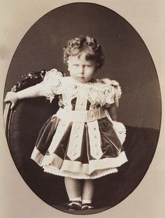 Prince Alfred of Edinburgh (1874-99).   Photograph of Prince Alfred, the eldest child and only son of Alfred, Duke of Edinburgh (and later of Saxe-Coburg-Gotha), and his wife, formerly Grand Duchess Marie of Russia. August 1876.