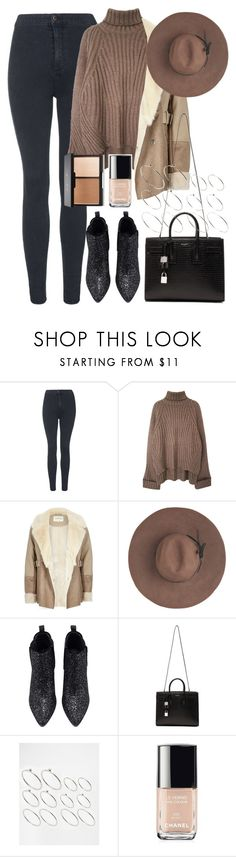 """Untitled #767"" by rguelsah ❤ liked on Polyvore featuring Topshop, River Island, Eugenia Kim, Yves Saint Laurent, ASOS, Chanel, women's clothing, women, female and woman"
