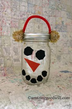 #Christmas Mason Jars ~ #DIY Gift Idea by Goodwill home decor expert Merri Cvetan