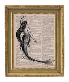 Mermaid Vintage Dictionary Print - $7.95. https://www.bellechic.com/deals/4f9fa32a1685/mermaid-vintage-dictionary-print