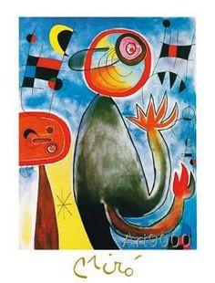 Joan Miró   Les échelles En Roue De Feu Traversent Iu0027azur, ...