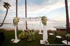 The beautiful Chuppah converted into sweetheart table